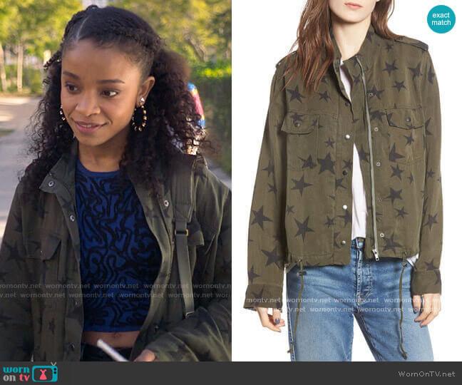 Rails Collins Star Jacket worn by Mia Brooks (Rachel Hilson) on Love Victor