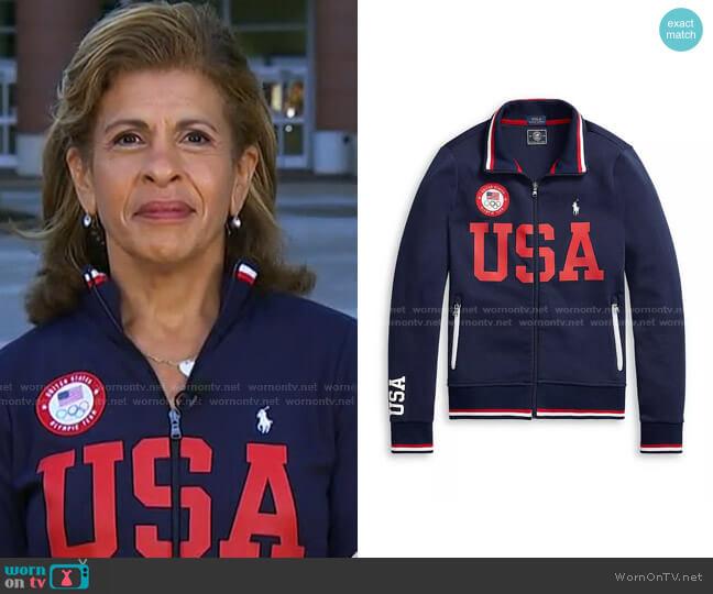 Team USA Track Jacket by Polo Ralph Lauren x Team USA worn by Hoda Kotb  on Today