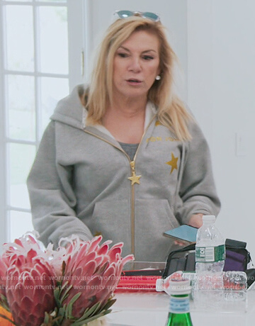 Ramona's gray gold star hoodie on The Real Housewives of New York City