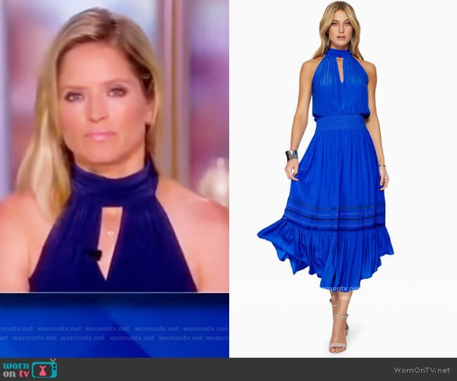 Annette Tiered Midi Dress by Ramy Brook worn by Sara Haines  on The View