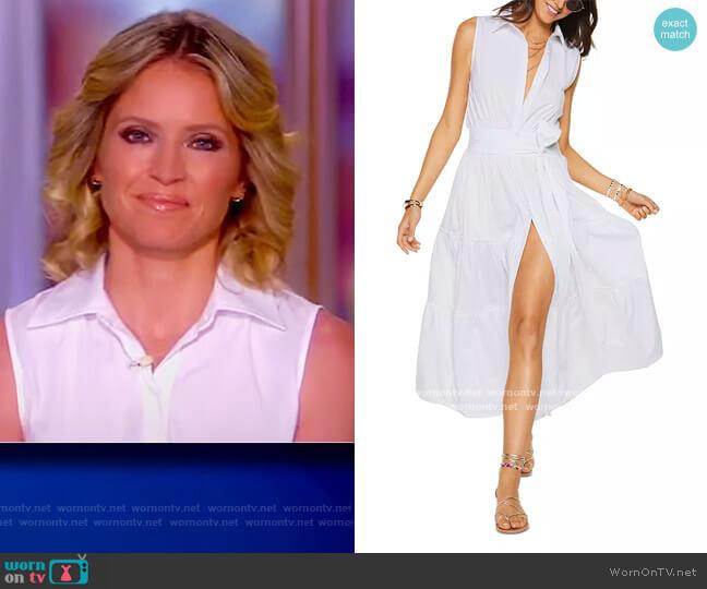 Camila Sleeveless Shirt Dress by Ramy Brook worn by Sara Haines  on The View