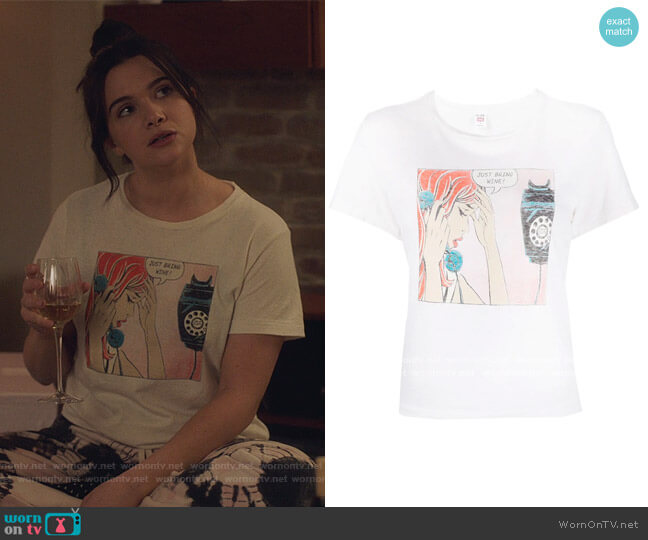 Logo Print T-Shirt by Re/Done worn by Jane Sloan (Katie Stevens) on The Bold Type