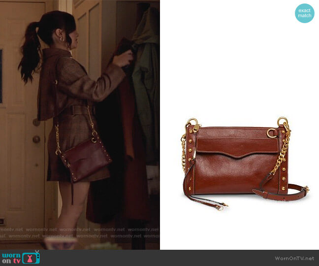 MAB Studded Leather Crossbody by Rebecca Minkoff worn by Jane Sloan (Katie Stevens) on The Bold Type