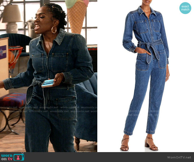 Rebecca Taylor Denim Jumpsuit worn by Harper (Laci Mosley) on iCarly