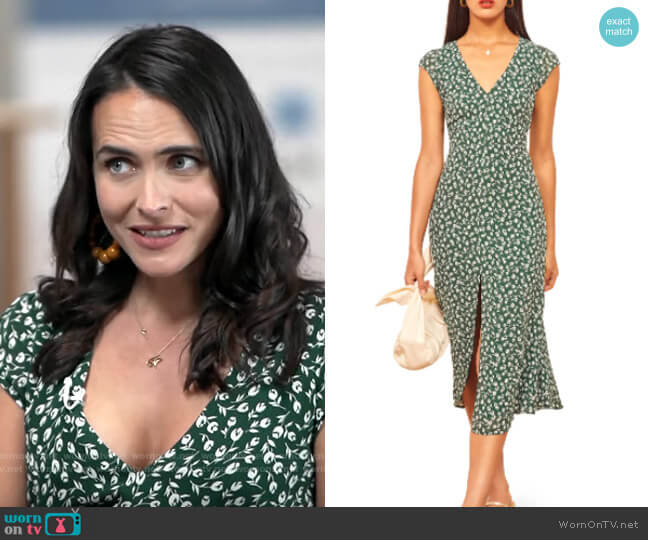 Reformation Welfleet Dress in Susanna worn by Lilia Luciano on CBS This Morning