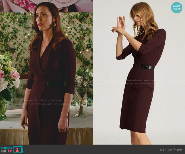 Luisa Dress by Reiss worn by Abigail Pershing (Sarah Power) on Good Witch
