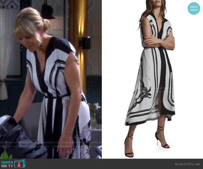 Heidi Mixed Print Dress by Reiss worn by Nicole Walker (Arianne Zucker) on Days of our Lives