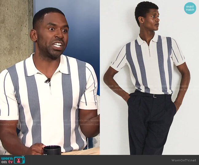 Leo Polo Shirt by Reiss worn by Justin Sylvester  on E! News