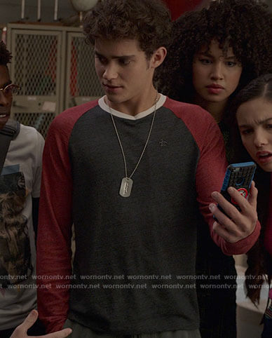 Ricky's grey and red baseball tee on High School Musical The Musical The Series