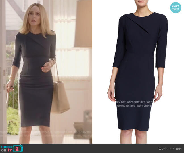Hisley 3/4-Sleeve Crepe Dress by Roland Mouret worn by Laura Baker (Monet Mazur) on All American