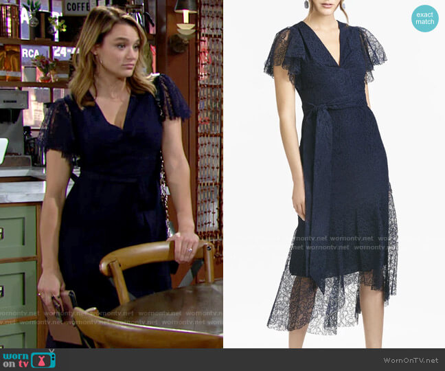 Sachin + Babi Estella Dress worn by Summer Newman (Hunter King) on The Young & the Restless
