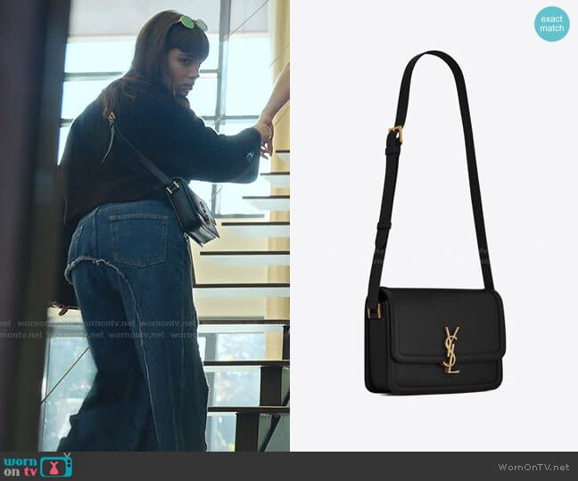 Solferino Small Leather Shoulder Bag by Saint Laurent worn by Mencia Blanco (Martina Cariddi) on Elite