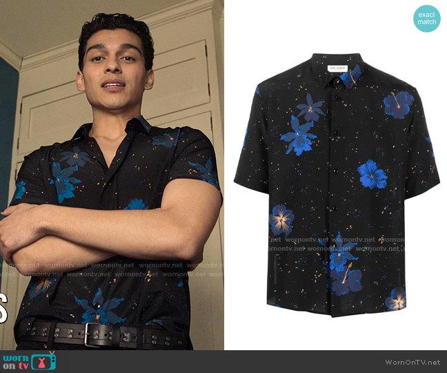 Saint Laurent Short-Sleeve Floral-Print Shirt worn by Rahim (Anthony Keyvan) on Love Victor
