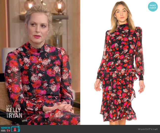 Isa Dress by Saloni worn by Ali Wentworth on Live with Kelly and Ryan