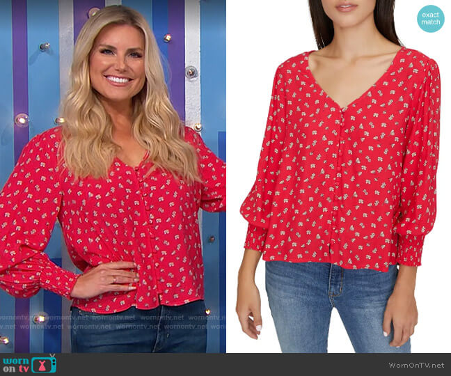 Sanctuary Harmony Top worn by Amber Lancaster  on The Price is Right