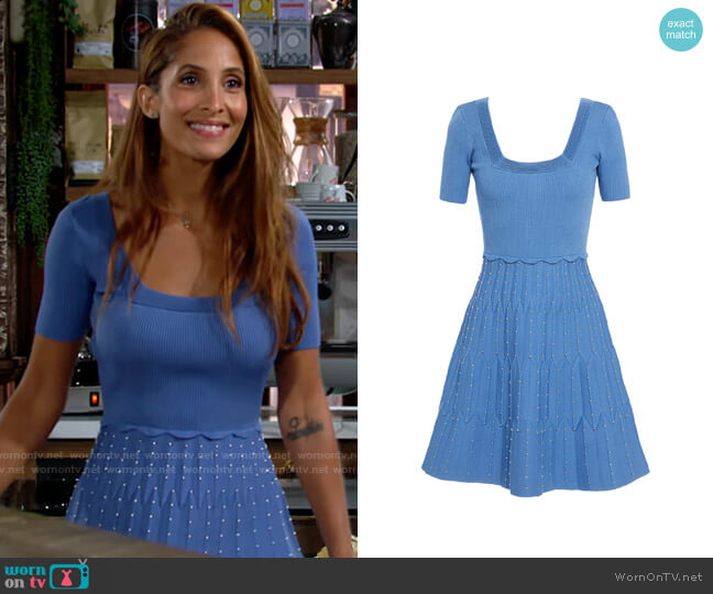 Sandro Flyn Dress worn by Lily Winters (Christel Khalil) on The Young & the Restless