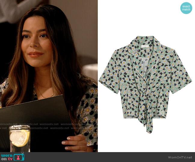 Sandro Rosa Top worn by Carly Shay (Miranda Cosgrove) on iCarly