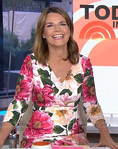 Savannah's floral v-neck dress on Today