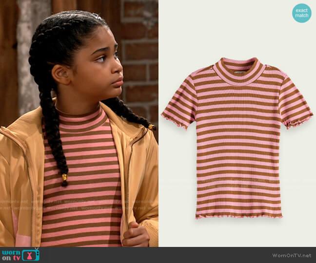 Scotch & Soda Frilly high neck T-shirt worn by Millicent (Jaidyn Triplett) on iCarly