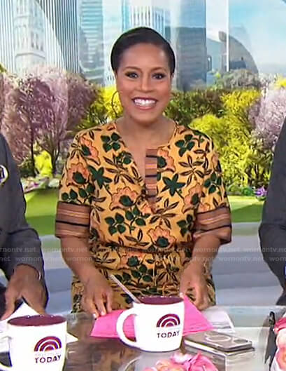 Sheinelle's yellow floral dress on Today