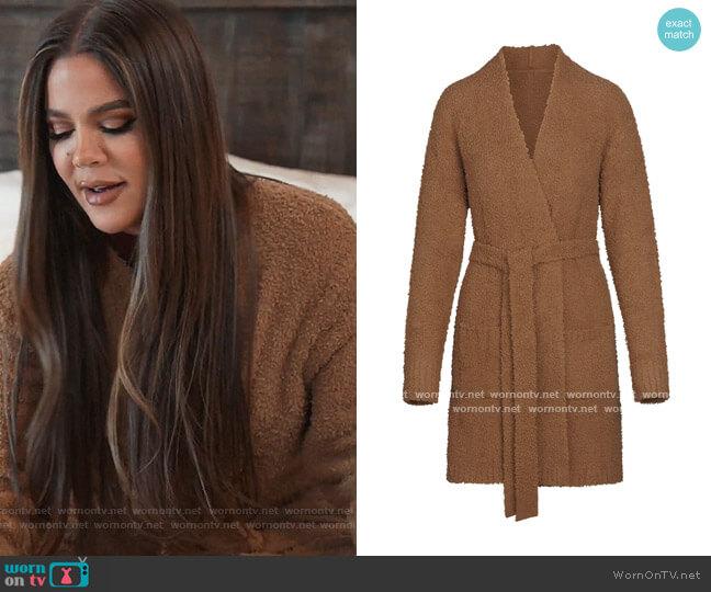 Cozy Knit Short Robe by Skims worn by Khloe Kardashian  on Keeping Up with the Kardashians
