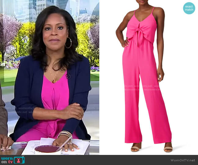 Popover Jumpsuit by Slate & Willow worn by Sheinelle Jones  on Today