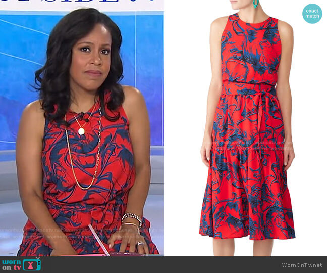 Floral Midi Dress by Slate & Willow worn by Sheinelle Jones  on Today