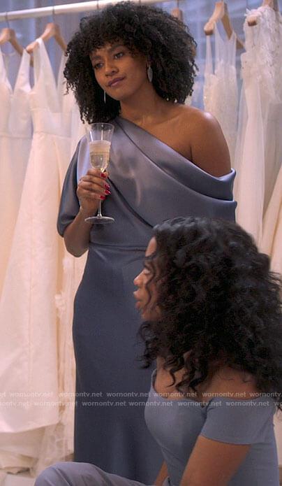 Sondi's bridesmaid dress on Run the World