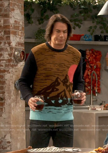 Spencer's mountain graphic sweater on iCarly