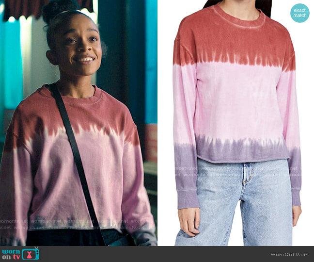 Spiritual Gangster Mazzy Pullover Sweatshirt worn by Mia Brooks (Rachel Hilson) on Love Victor
