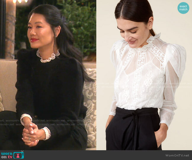 Tomi Top by St. Roche worn by Crystal Kung Minkoff  on The Real Housewives of Beverly Hills