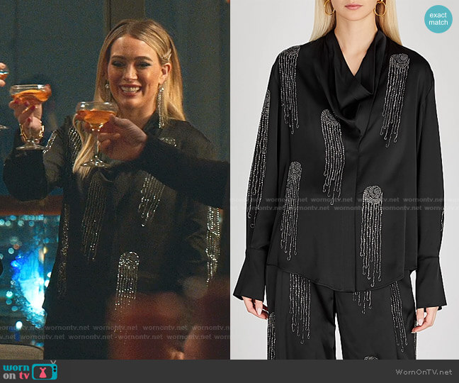 Amabella Blouse by Stella McCartney worn by Kelsey Peters (Hilary Duff) on Younger