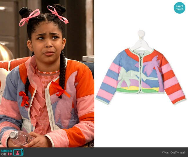 Stella McCartney Palm Tree Quilted Jacket worn by Millicent (Jaidyn Triplett) on iCarly