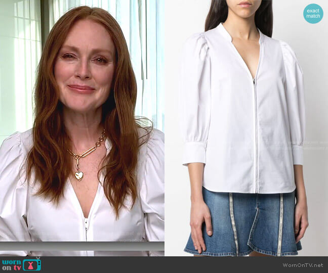 Rose Zip-Up Shirt by Stella McCartney worn by Julianne Moore on Today