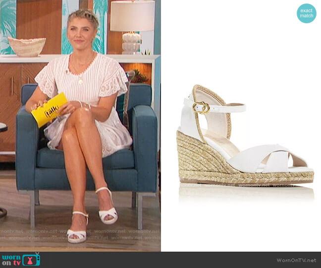 Mirela Espadrille Wedge Sandals by Stuart Weitzman worn by Amanda Kloots  on The Talk