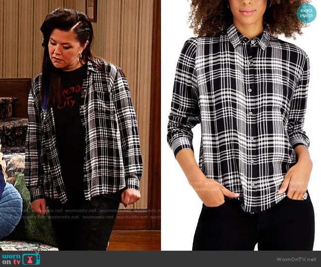 Style & Co Boyfriend Plaid Shirt worn by Patty (Mary Hollis Inboden) on Kevin Can F**k Himself
