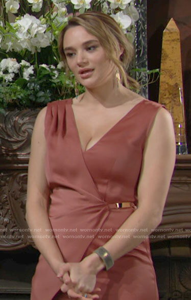Summer's wrap jumpsuit on The Young and the Restless