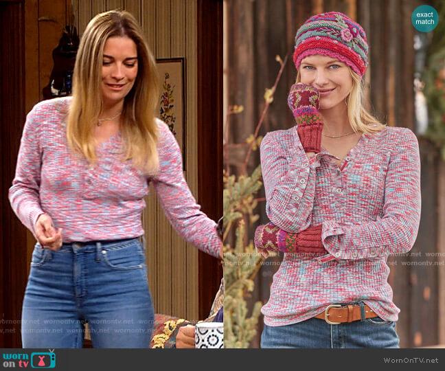 Sundance Create Beauty Henley worn by Allison (Annie Murphy) on Kevin Can F**k Himself