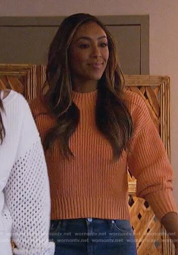 Tayshia's orange sweater on The Bachelorette