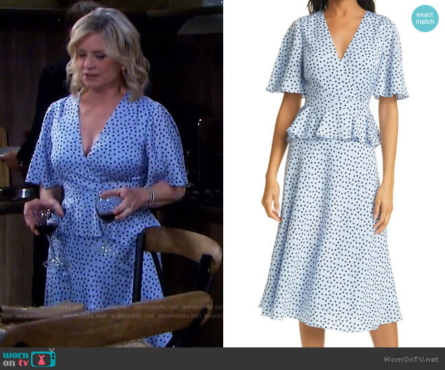 Mabbel Peplum Dress by Ted Baker worn by Kayla Brady (Mary Beth Evans) on Days of our Lives