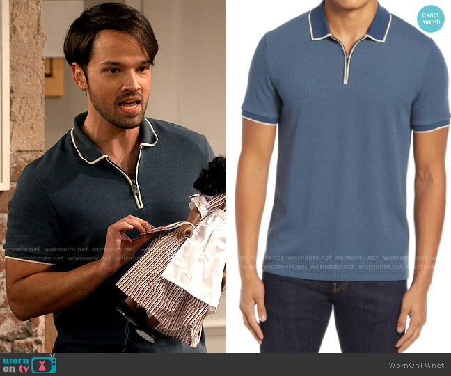 Ted Baker Sello Polo worn by Freddie Benson (Nathan Kress) on iCarly