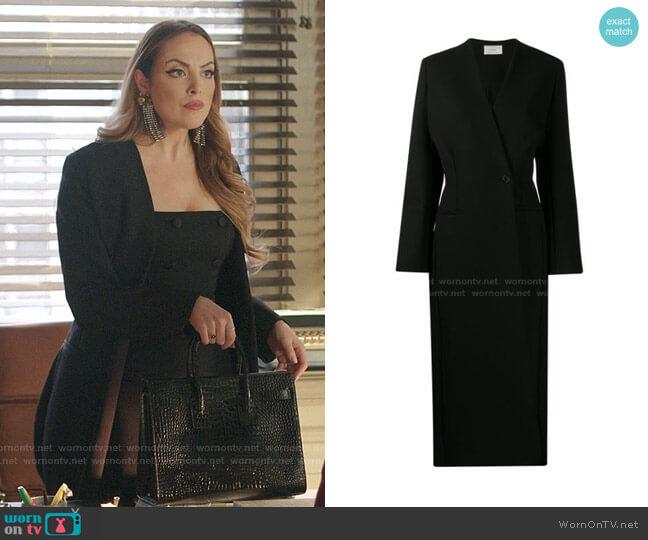 Nadine Coat by The Row worn by Fallon Carrington (Elizabeth Gillies) on Dynasty