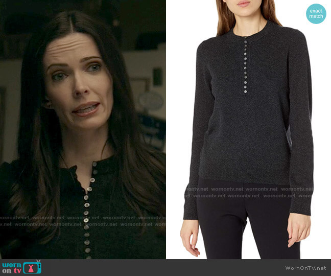 Theory Cashmere Button Henley worn by Lois Lane (Elizabeth Tulloch) on Superman & Lois