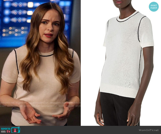 Theory Cashmere Tee worn by Caitlin Snow (Danielle Panabaker) on The Flash