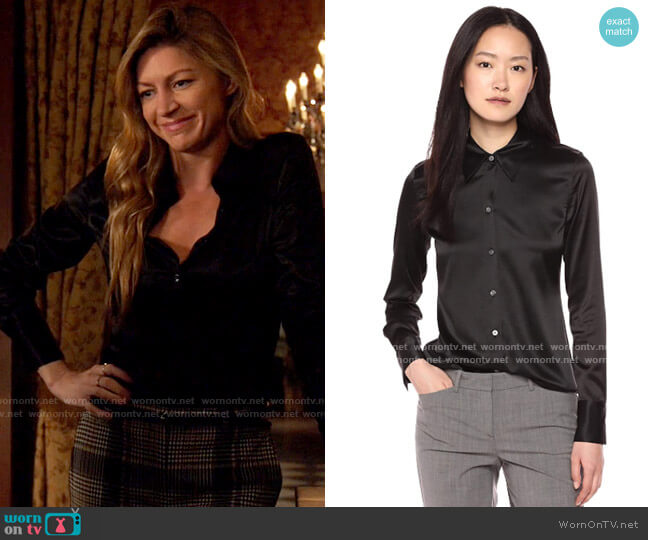 Theory Essential Fitted Shirt worn by Ava Sharpe (Jes Macallan) on Legends of Tomorrow