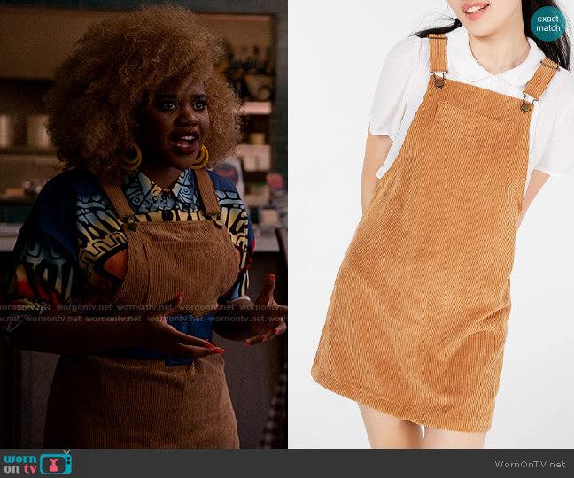 Tinseltown Corduroy Skirtall worn by Kourtney (Dara Renee) on High School Musical The Musical The Series