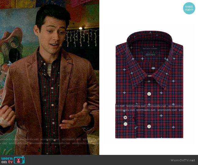 Tommy Hilfiger Check Print Slim Fit Button-Down Shirt worn by EJ (Matt Cornett) on High School Musical The Musical The Series