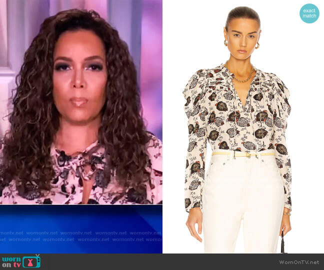 Bevin Blouse by Ulla Johnson worn by Sunny Hostin  on The View