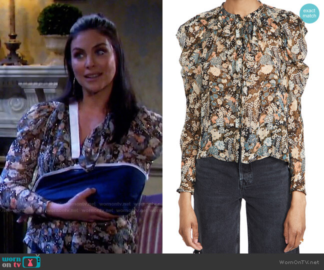 Colette Blouse by Ulla Johnson worn by Chloe Lane (Nadia Bjorlin) on Days of our Lives
