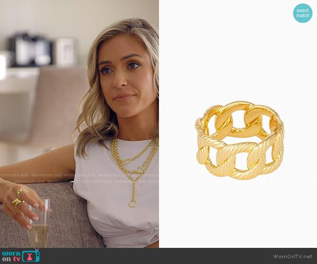 Uncommon James Chunky Chain Ring worn by Kristin Cavallari on The Hills New Beginnings